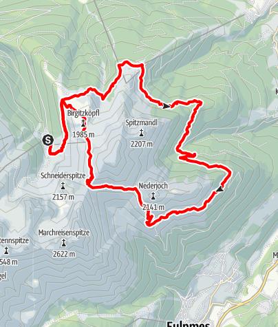 Karte / Trail Run - Rund um die Saile