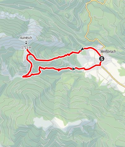 Karte / Weißbriacher Hütte (1567 m)