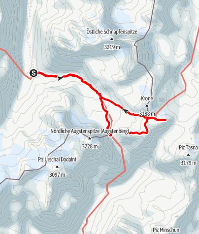 Karte / 3000er Überschreitung Silvretta