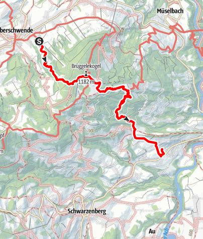 Karte / Brüggele bis Egg/Stadel ohne Lift
