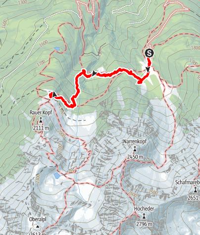 Karte / Pfaffenhofener Alm - Peter-Anich-Hütte