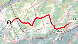 Karte / Alpenarena Hochhädrich zur Falkenhütte