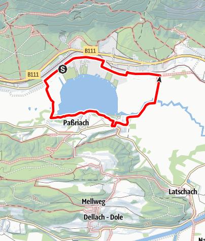 Karte / Um den Pressegger See