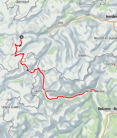 Karte / Etappen 1-3 (St. Anton - Meran 2000)