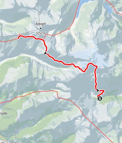 Karte / Hochalmspitze Überschreitung über Gießener Hütte zum Hannoverhaus