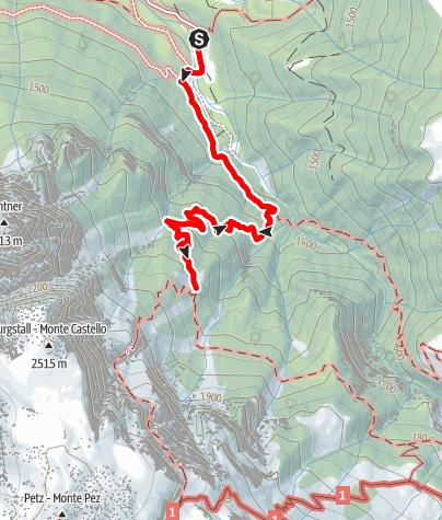 Karte / Schlernbödele und Prossliner Schweige