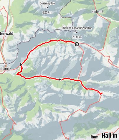 Karte / Alpenüberquerung Bad Tölz - Bozen Etappe 4