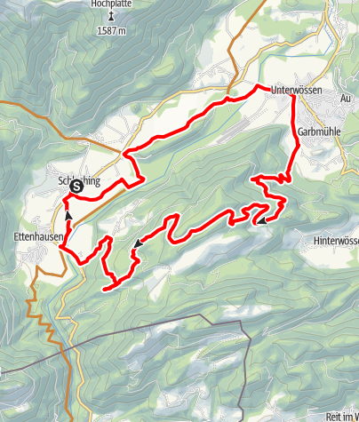 Karte / MTB-Tour Schleching rund um die Gscheuerwand - Bergsteigerdorf Schleching Sachrang