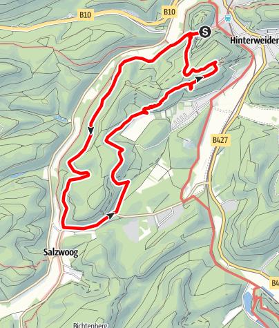 Map / Hinterweidenthaler Teufelstisch