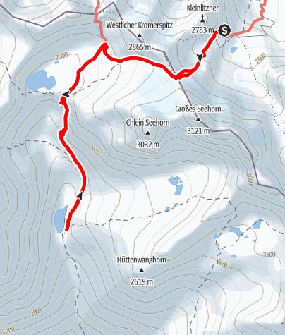 Karte / Seetalhütte von der Saarbrücker Hütte