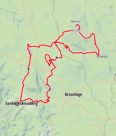 Karte / St. Andreasberg zum Brocken