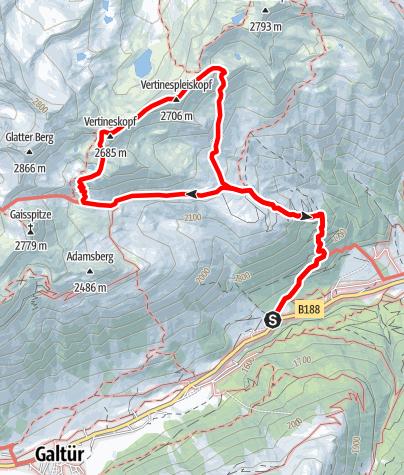 Karte / Panoramarundweg an der Friedrichshafener Hütte
