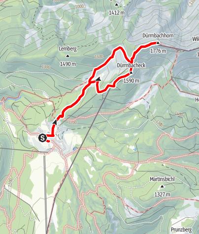 Karte / Von der Winkelmoosalm zum Dürrnbachhorn und über das Dürrnbacheck zurück
