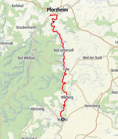 Karte / Nagold - Pforzheim