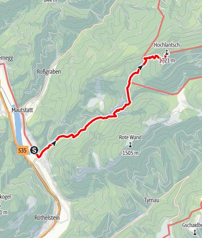 Karte / Mixnitz - Bärenschützklamm - Hochlantsch - Mixnitz