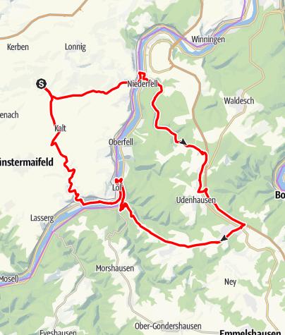 Karte / Maifeld-Mosel-Hundsrück Tour