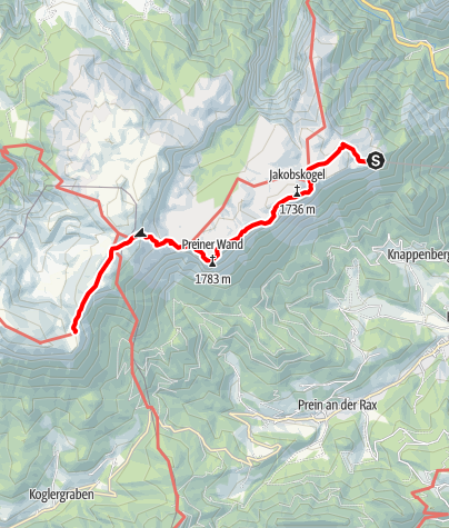 Karte / Wanderung im Raxgebiet 1