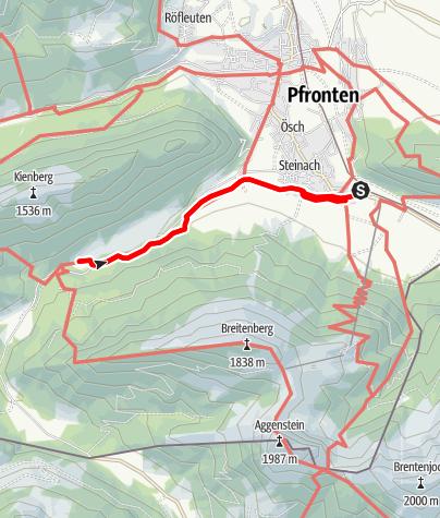 Karte / Wandern und Erleben Allgäu Alpaka Wanderung Tour2