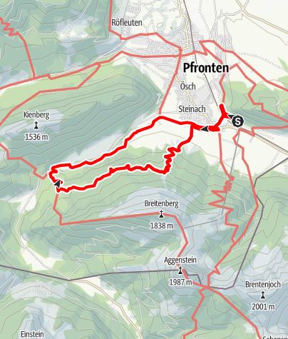 Karte / Geführte Alpaka Wanderung über Tirolerstadl Tour3
