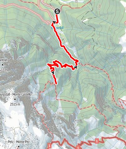 Karte / Bad Razes - Schlernbödele Hütte