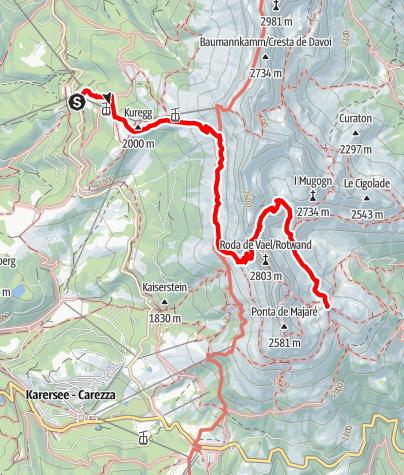 Karte / Vajolonpass-Überquerung