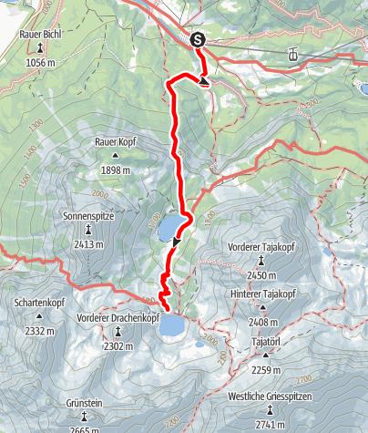 Karte / Von Ehrwald zur Coburger Hütte