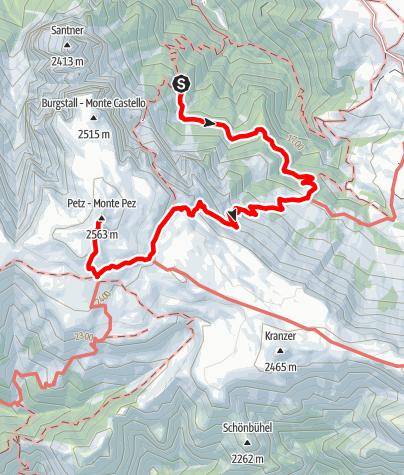 Karte / Schlernbödele - Schlernhaus (Touristensteig) und nochmal kurz zum Gipfel St. Andrea/s