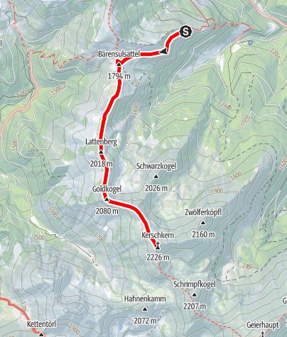 Map / Beisteineralm -> Kerschkern und Retour