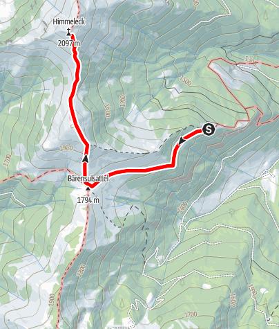 Map / Beisteineralm -> Himmeleck und Retour