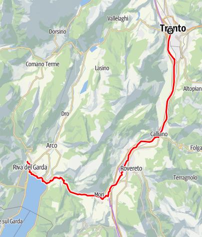 Karte / Rad: Trient - Riva