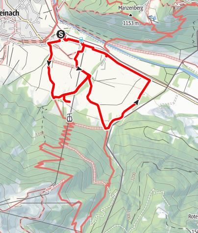 Karte / Leichte Alpakawanderung Tour1