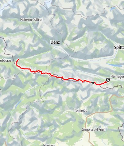 Karte / Friedensweg Sommer 17