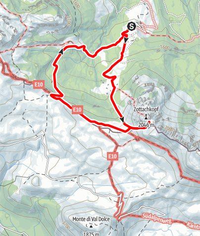 Karte / Zottachkopf (2046 m)
