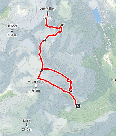 Karte / Wanderung von Fraganter Schutzhaus auf Sandfeldkopf