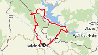 Karte / Haslach Grünwald Schöneben über Tschechien retour