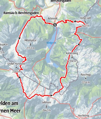 """Karte / """"Rund um den Königssee"""""""