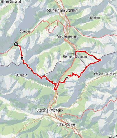 Map / around Brenner