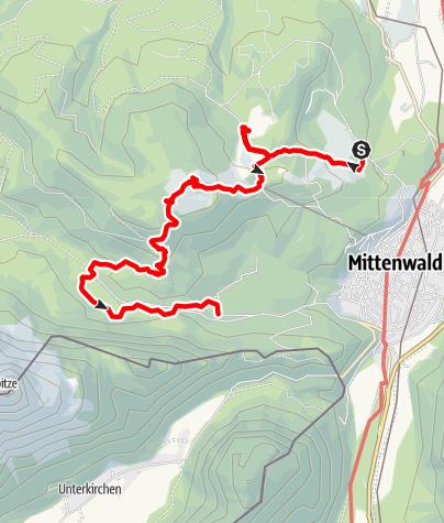Karte / Wanderung mit Hund auf den Hohen Kranzberg