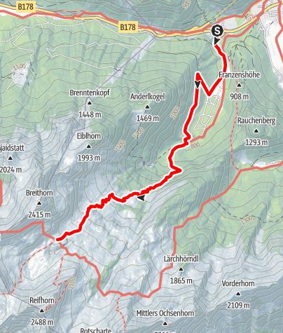 Karte / Schmidt-Zabierow-Hütte