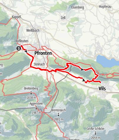 Karte / Salober-Tour 2    Auf Königlichen Spuren