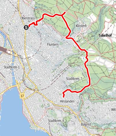 Map / Zürichberg: Rigiblick- Hirslanden