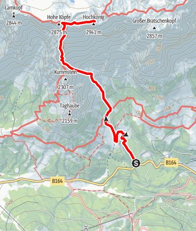 Karte / Hochkönig über Birgkar