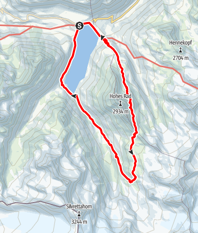 Karte / Radschulter - Wiesbadener Hütte