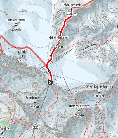 Karte / Dachstein Hoher Gjaidstein