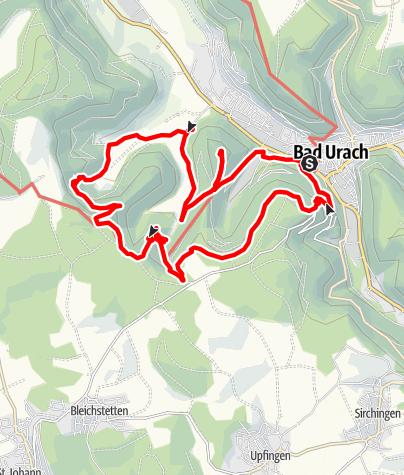 Karte / Wasserfälle und Uracher Burgruine
