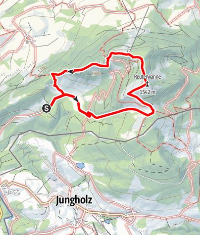 Karte / Wander Tour 3 Reuterwanne
