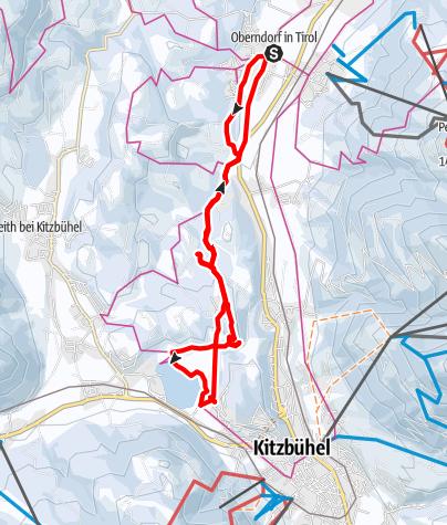 Map / Winterwanderung zum Schwarzsee