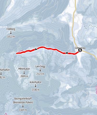 Map / Winterwanderung der Fleischbank und dem Totenkirchl zu Füßen