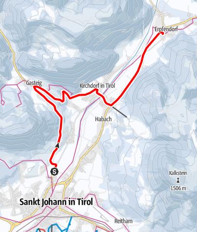 Map / Flusserlebnisweg von Bärnstetten nach Erpfendorf