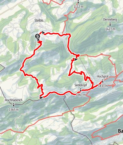 Karte / Imberg/Hochgrat Rundweg